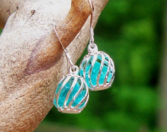 Reclaimed 1930's Mason Jar Cage Earrings