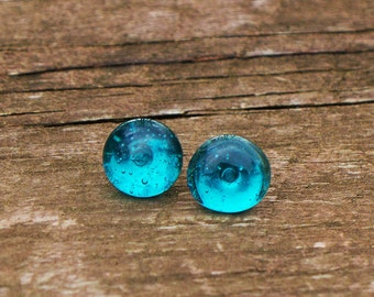 Recycled Mason Jar Post Earring/something blue/Bridesmaid gift/Stud Earrings/Blue Mason Jar/Handmade/Recycled Glass Jewelry/Eco Gift