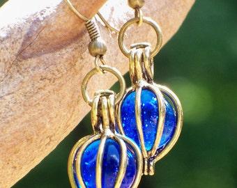Recycled Noxzema Bottle Earrings