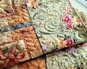 "Lap Quilt Sofa Throw NATURAL SPLENDOR 55"" x 73"""