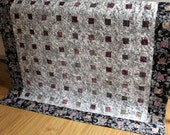 Lap Quilt in Black and White RENDEZVOUS ON SALE