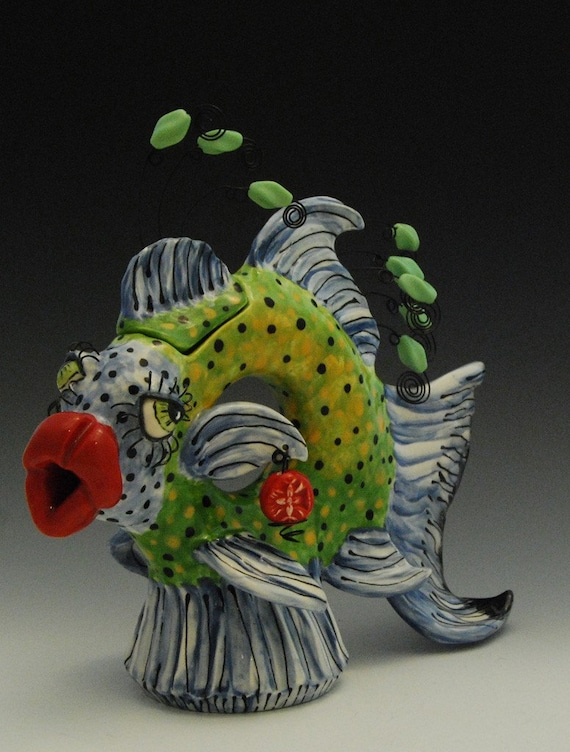 Reserved Listing Fish Teapot Made to Order