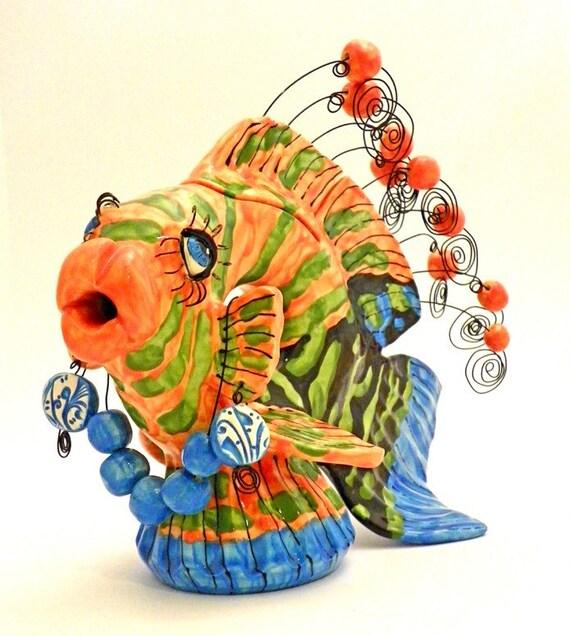 Ceramic Fish Teapot The Contessa Made to Order