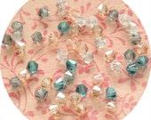 Cloud - Swarovski 4mm Bicone Crystal Mix (50 beads)