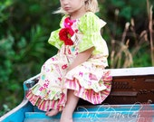 Twas the Night Before Christmas Ruffle Dress Pick Your size 12 months to 6 Years
