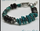 Turquoise, Bronzite and Pewter - PRICE REDUCTION