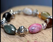 Rainbow Fire Agate and Sterling Silver
