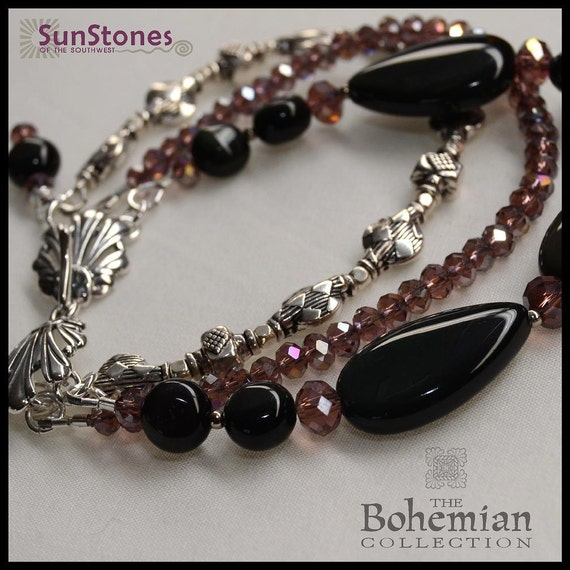 Rainbow Obsidian and Sterling Silver - PRICE REDUCTION