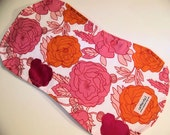 Orange You Pink...a graphic floral cottontail burp cloth for baby girl.