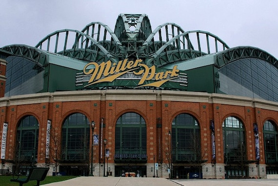 Miller Park, 8x12 fine art print, Home of the Milwaukee Brewers, great gift for dad's or baseball fanatics