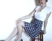 Vintage 1970s Plaid Tartan School Girl Skirt
