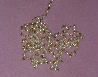 Vintage Faux Pearl Chain 6mm (5ft)