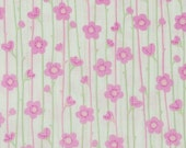 CLEARANCE - Urban Garden - Floral Stripe in pink and green