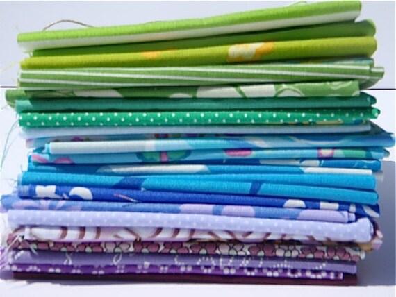 Spectrum Bundle with Purple - Blue - Green - Fat Eighths of 26 - PLEASE READ DESCRIPTION