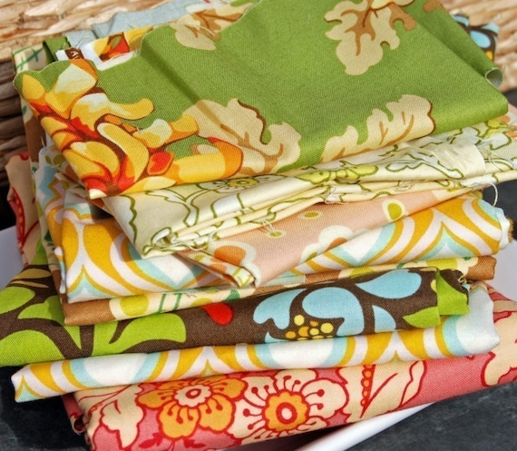 Heather Bailey Remnant Scrap Pack - 5 oz.  size - Please Read Description Before you Purchase