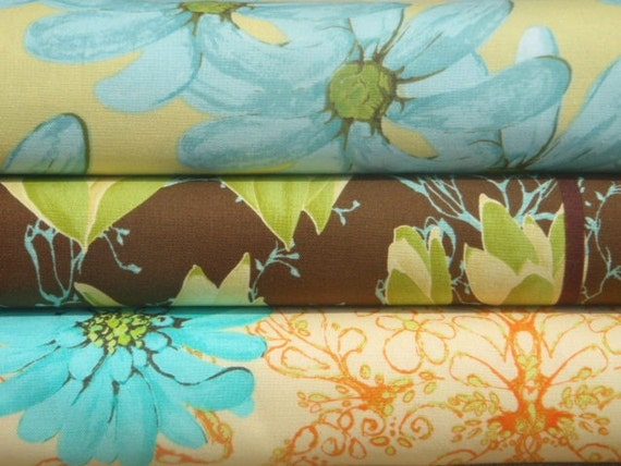 SALE Half Yard Bundle of 3 - Tina Givens - Treetop Fancy - Macy - Magnolia Morning - Huckleberry
