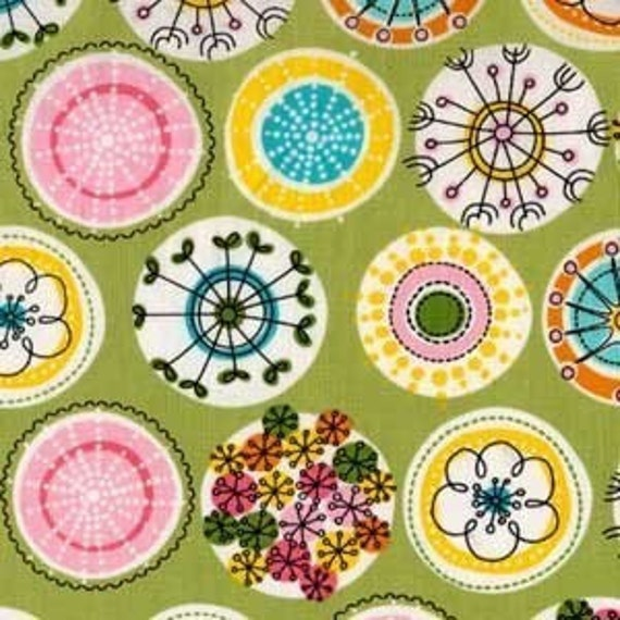 1 Fat Quarter of Lava Bloom in Sage by Michael Miller