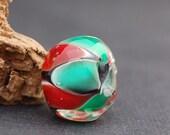 Chunky ChristmasTroll  Pandora Handmade Glass Lampwork Big Hole Bead by Melissa Vess SRA