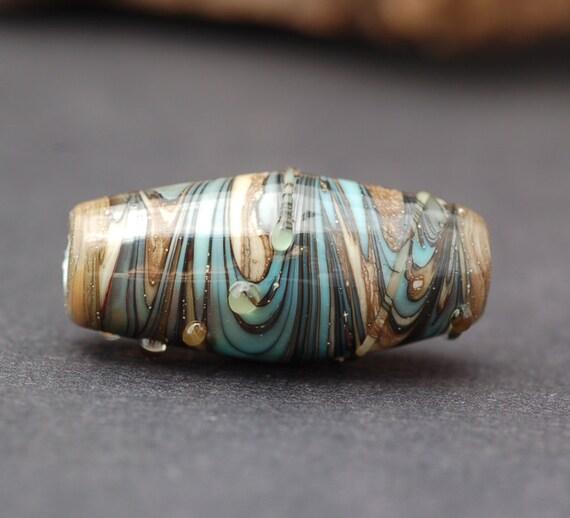 Handmade Glass Lampwork Focal Bead - Swirled by Melissa Vess SRA