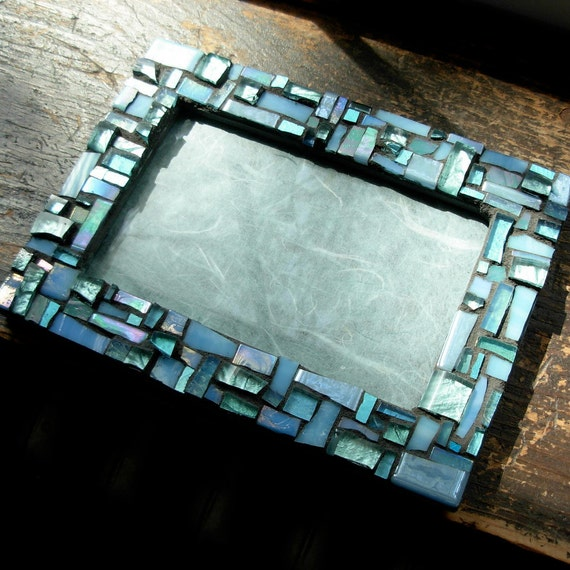 Pale Blue Mosaic Picture Frame