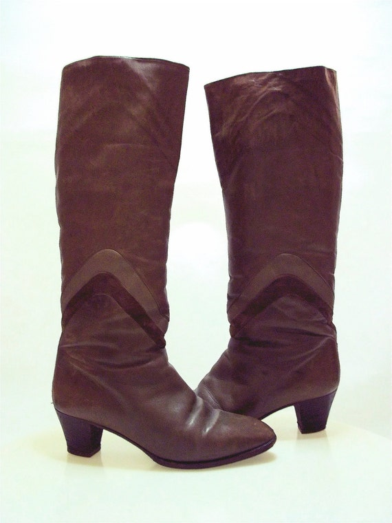 Reserved for Q G- Italian Brown Leather Boots