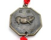 Chinese zodiac pig bagua charm