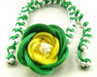 Green gradient rose necklace - can be made with custom colors