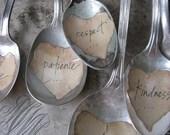 3 Wedding Favor Spoon Ornaments