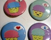 Cupcakey Joypins - Set of Four
