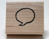 Speech Bubble hand carved rubber stamp