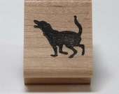 Loping Lab... wee dog rubber stamp