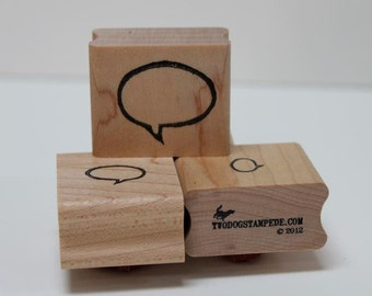 Speech Bubble MEDIUM rubber stamp