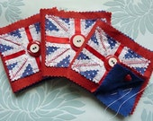 Red Union Jack Needle Sewing Case Books