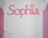 Personalized Princess Crown Name Shirt.... Sizes 2T, 3T, 4T, 5, 6, 7, 8