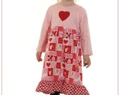 Valentines Day Dress.. Custom Made in Sizes 2T through Girls Size 4T... LAST ONE