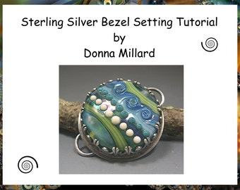 TUTORIAL  Beginning METAL FABRICATION Bezel Setting Stone Cabochons Lampwork Beads Donna Millard