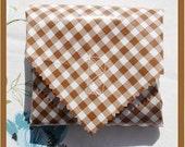 sandwich wrap - cloth napkin - eco - reusable - oilcloth - BROWN GINGHAM