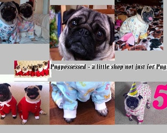 Flannel Custom Dog One Piece Pajamas