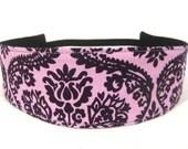 Headband - Michael Miller Dainty Damask in Grape (Purple)