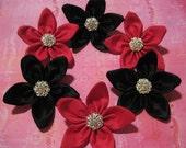 Custom Bridesmaid Hair Flowers - Set of 6