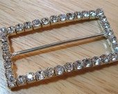 Reserved for Bagladee - 20 Vintage Inspired Rhinestone Buckle - Rectangle
