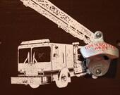 Fire Truck Bottle Opener Brown