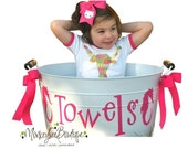 EXTRA LARGE Personalized PARTY Tub with Wooden Handles