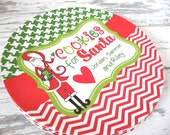 Personalized Cookies for Santa Melamine Plate