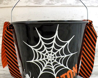 Personalized Custom Halloween Bucket - More Designs Available