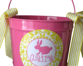 10 Quart Personalized Easter Pail Basket