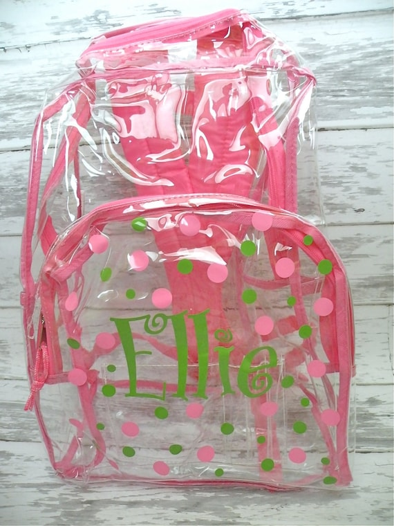 Personalized Clear Backpack