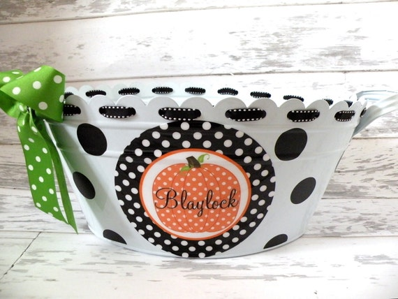 Personalized Halloween Tub - More Designs Available