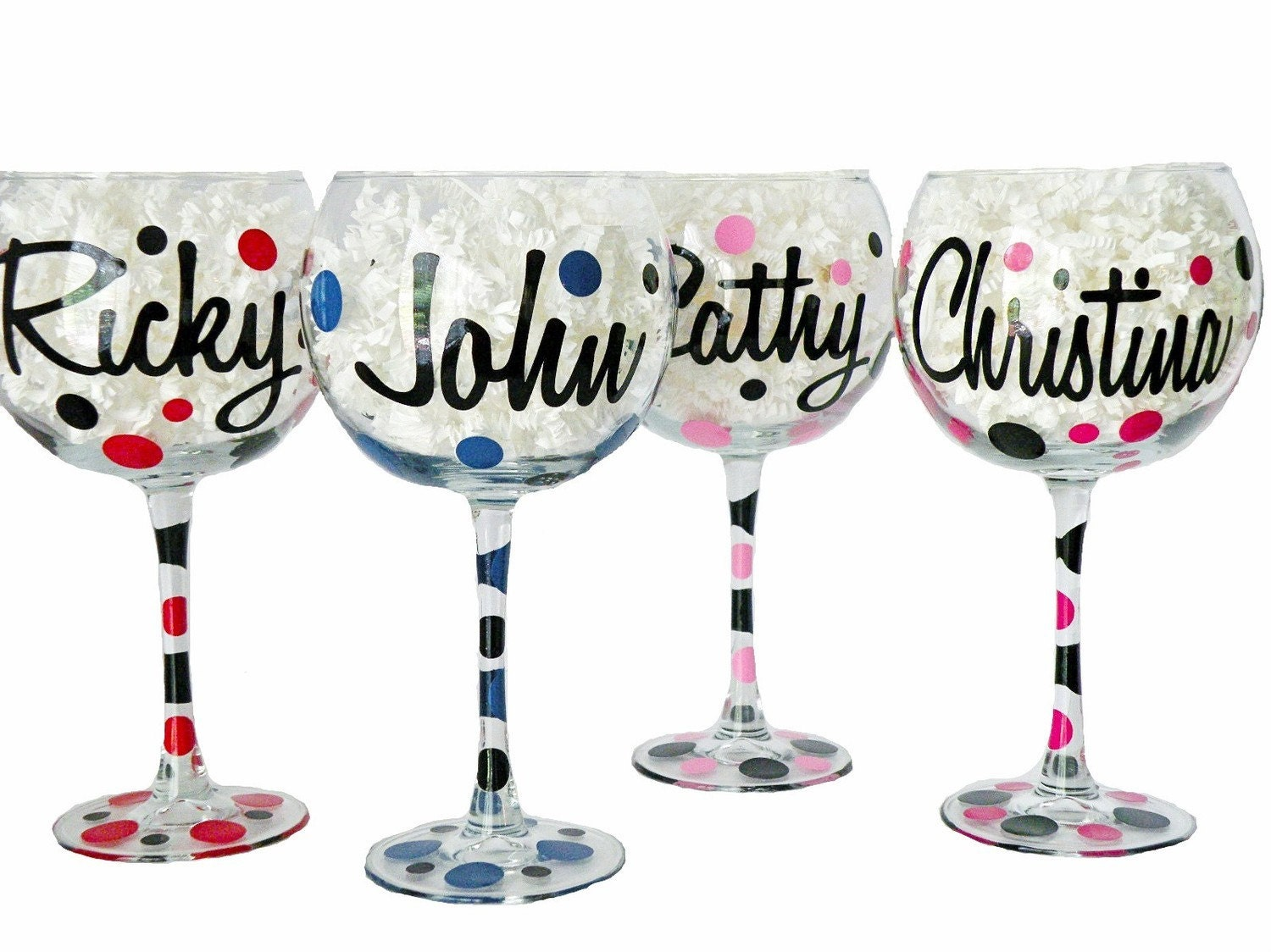 Jumbo Personalized Red Wine Glasses Ounces Features