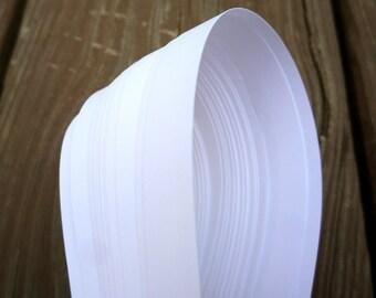 "1/2"" Weaving Star Paper~ Bright White (50 strips)"